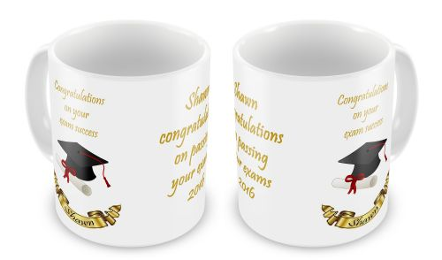 Personalised Congratulations On Your Exam Success Novelty Gift Mug